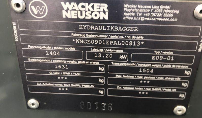 NEW WACKER NEUSON 1404 EXCAVATOR full